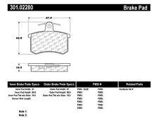 Premium Ceramic Brake Pad w/Shims fits 1980-2001 Audi 5000 A4 Quattro 80 Quattro