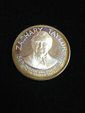 Zachary Taylor 12th President Sterling Silver Art Round by Franklin Mint *Toned
