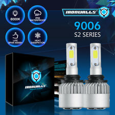 9006 9012 1300W 195000LM High/Low Beam COB LED Headlight Bulb HID Conversion Kit