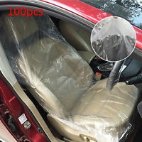100PCS DISPOSABLE PLASTIC CAR SEAT COVERS  VEHICLE  MECHANIC UK