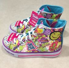 "SKECHERS Shuffles ""Trendy Talk"" Youth Girl's Hi-Top Multi-Color Sneakers~Size 12"