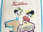 Vintage 11' X 9' Cloth Embroidered Linen Tortilla Holder Bag Warmer Pouch