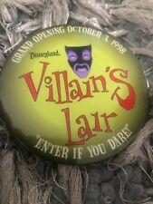Rare Disneyland Villains's Lair Enter If You Dare Button Pins Rare Discontinued