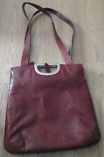 VTG Ladies FIRENZE BAGS Large Brown Shoulder Bag with Handles