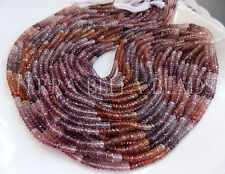 """6.5"""" half strand MULTI RED SPINEL faceted gem stone rondelle beads 3.5mm - 4mm"""