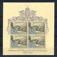 ITALY -VATICAN --VATICANA -1952 MI# BLOCK 1 CV € 300 */** ( STAMPS ARE ** )