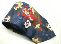 "MICKEY MOUSE Fili Rosy Blue Men's Tie 100% Silk 3.75"" Width 59"" Length"