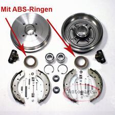 Opel Corsa C - Bremstrommel Bremsen Set mit 2 Abs Ringe 2 Radlager für hinten*