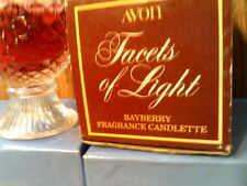 Rhtf Vtg 1975 Avon Facets Of Light (Cut Glass) Bayberry Candlette-Nib-Free Ship