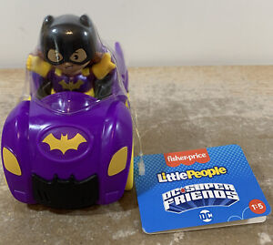 Fisher Price Little People DC Super Friends Vehicles and Removable Batgirl