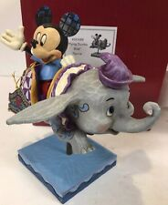 Disney Parks Jim Shore Mickey Flying In Dumbo Ride Amusement Park Figure Mib