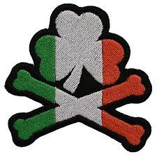 Cross Bones and Irish clover Flag BIKER MC PATCH