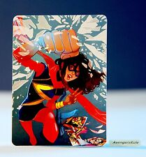 Marvel Hubsnaps Checklist Card 31 of 48 Ms. Marvel