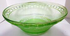 Vintage 1950's? Art Deco Green Vaseline URANIUM GLASS BOWL  - not sure?