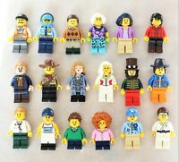 NEW LEGO 10 MINIFIG LOT minifigure figure town city pirates - Randomly Selected