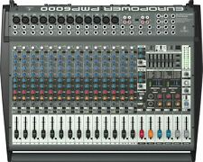 Behringer EUROPOWER PMP6000 20-Ch Powered Compact Low Noise Multi-Effects Mixer