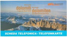 TELECOM ITALIA folder 2 carte telefoniche DOLOMITI MARMOLADA DOLOMITEN 1998