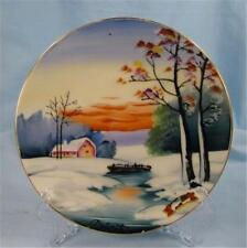 Lovely Handpainted P Haruta Winter Scene Decorative Plate Japan Snow AS IS (O)