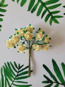 Mulberry Paper Tea Rose 15mm Flower....Cardmaking, Scrapbooking, Wedding, Crafts