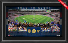 Western Bulldogs 2016 AFL Premiers Road to Glory Deluxe Print Framed Bontempelli