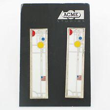 "Vintage Frank Lloyd Wright ""Coonley #1"" Earrings by Acme Studio New"