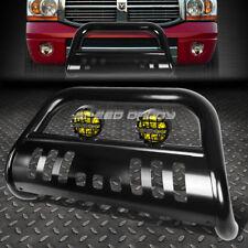 BLACK BULL BAR GRILLE GUARD+YELLOW FOG LIGHT FOR 02-09 DODGE RAM 1500/2500/3500