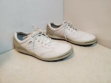 ECCO Cage Pro Golf Shoes Spikeless Gray White SZ 45 - US 10.5/11 Wide HydroMax