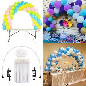 Large Balloon Arch Set Column Stand Base Frame Kit Birthday Wedding Party Decor*
