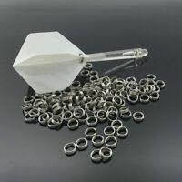 50 Professional Edelstahl Dart Shaft Ring Runde Set Dart Accessoires F2U0.