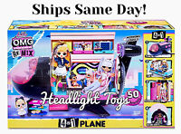 In Hand LOL Surprise 4 IN 1 OMG Remix Plane Airplane Studio Car Doll Playset NEW