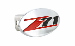 Chevrolet Z71 wordmark Chrome Plated Full Metal Hitch Cover Plug