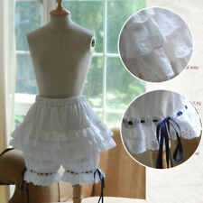 Ladies Lolita Lace Ruffle Shorts Bloomers Retro Underwear Safety Pants Pantaloon