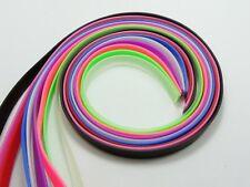 10 Straps 1meter length Rubber Belt Bands Cord 8mm Fit DIY Slide charms