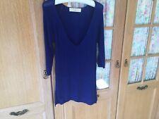 Zara Knit Dress/ Tunic Size L Chest 36 In Bright Blue.