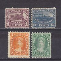 CANADA NEW BRUNSWICK 1860, SG# 7-18, CV £218, Part set, No gum
