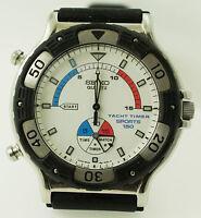 Vintage Seiko Yacht Timer Sports 150 Quartz Watch 8M35-800A NEW Battery
