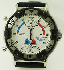 Vintage Seiko Yacht Timer Sports 150 Quartz Watch 8M35-800A NEW Battery