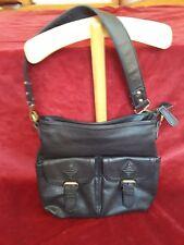 Sac porté épaule DAVID JONES en simili noir / Shoulder Bag imitation leather