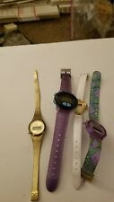 LOT OF 4 DIGITAL WOMAN'S WATCHES WITH BANDS PRE OWNED  N-58