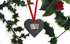 Piano Accordion Christmas Decoration Mum Dad Advent Xmas Box Tree Music Gift NEW