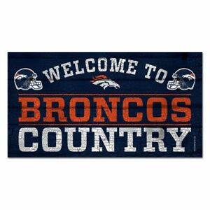 NFL Football Denver Broncos Welcome Token Country Wood Sign Wooden Sign Wood