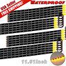 20x Amber Yellow 30CM 15 LED Car Motor Truck Flexible Strip Light Waterproof 12V