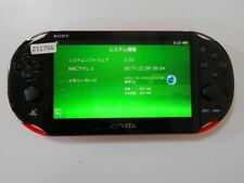 Z11756 Sony PS Vita PCH-2000 console Red/Black Japan x DHL