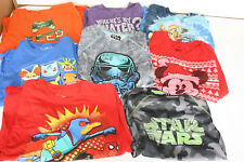 BOYS T-SHIRTS MIXED LOT OF 8 (POKEMON, STAR WARS, SKYLANDERS, MICKEY MOUSE)