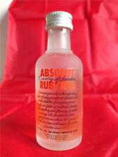 EMPTY ABSOLUT RUBYRED VODKA MINI MINIATURE BOTTLE WITH CAP 50 ML  1.7 FL OZ