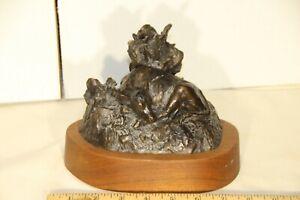 Curtis Zabel Signed Bronze Sculpture 1985 #14 / 30  GROWING TIME