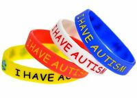I HAVE AUTISM Childrens Size Awareness Rubber Silicone Bracelet