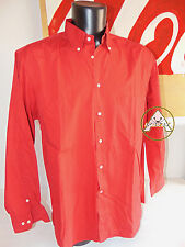 Vintage 90 UNIVERSAL XL USATO Camicia Top Rosso 80 Button Down Lunghe