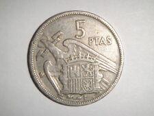 ESPAÑA: 5 PESETAS FRANCISCO FRANCO. AÑO 1957 *19-59*. BC. ENVIO GRATIS¡¡. IDEAL.