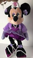 "Minnie Mouse 18"" Plush Doll Purple Princess Dress Disney Parks Stuffed Animal"